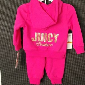 🌺NWT-Juicy Couture, Pink Sweatsuit, with Hoodie🌺